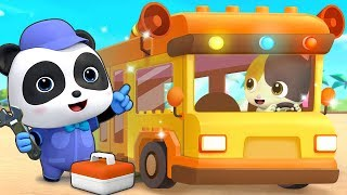 The Wheels On Babybus | nursery rhymes&kids song|BabyBus