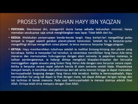 HAYY IBN YAQDHAN - IBN TUFAYL -حي بن يقظان - مجلة الباحثة from YouTube · Duration:  5 minutes 49 seconds