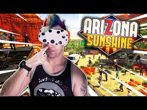 Caught in the Middle of A ZOMBIE APOCALYPSE! - Arizona Sunshine Gameplay - VR Zombie Survival Game!