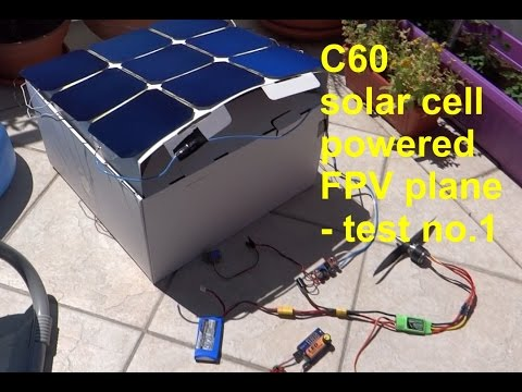 Sunpower Maxeon C60 - solar powered rc plane setup - test no.1