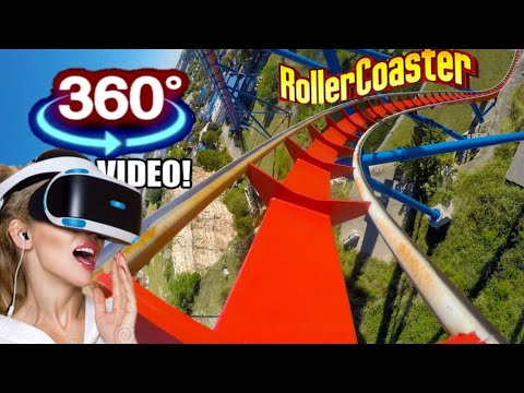 Great American 360° Coaster VR Simulator & Freefall Tower 360 VR Video 4K 60fps
