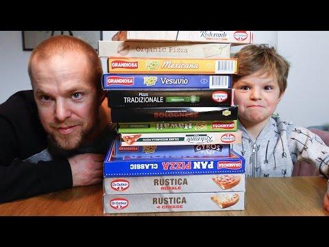 Johan och Ludvig testar frysta pizzor