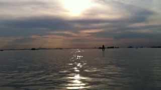 Tramonto in laguna sul