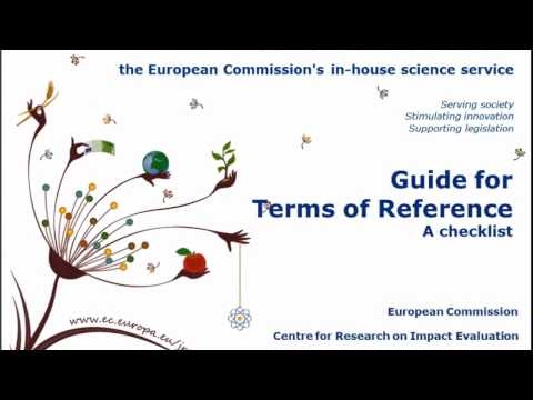 Guide for Terms of Reference