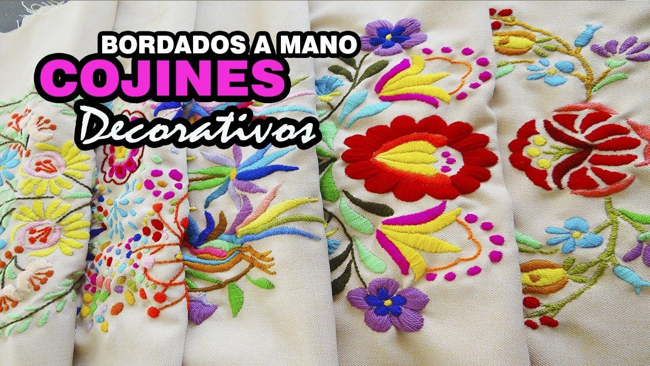 Cojines decorativos bordado a mano by labecca colecci n for Cojines con nombres bordados