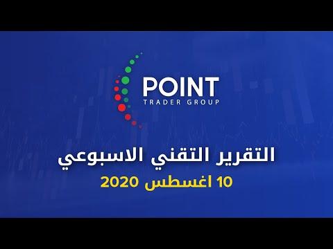 التقرير التقني الاسبوعي 10 أغسطس 2020 | Point Trader Group