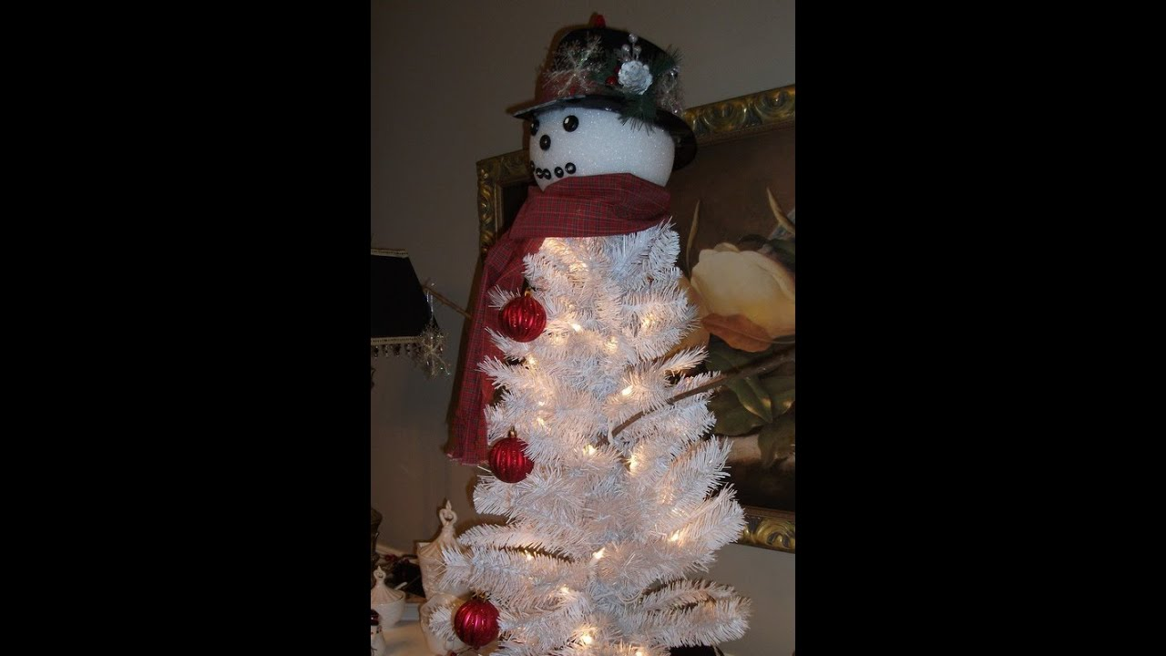 frosty the snowman christmas tree craft project youtube - Snowman Christmas Tree Decorations