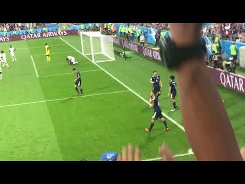 本田圭佑  敬礼の一部始終:ロシアワールドカップセネガル戦にて。