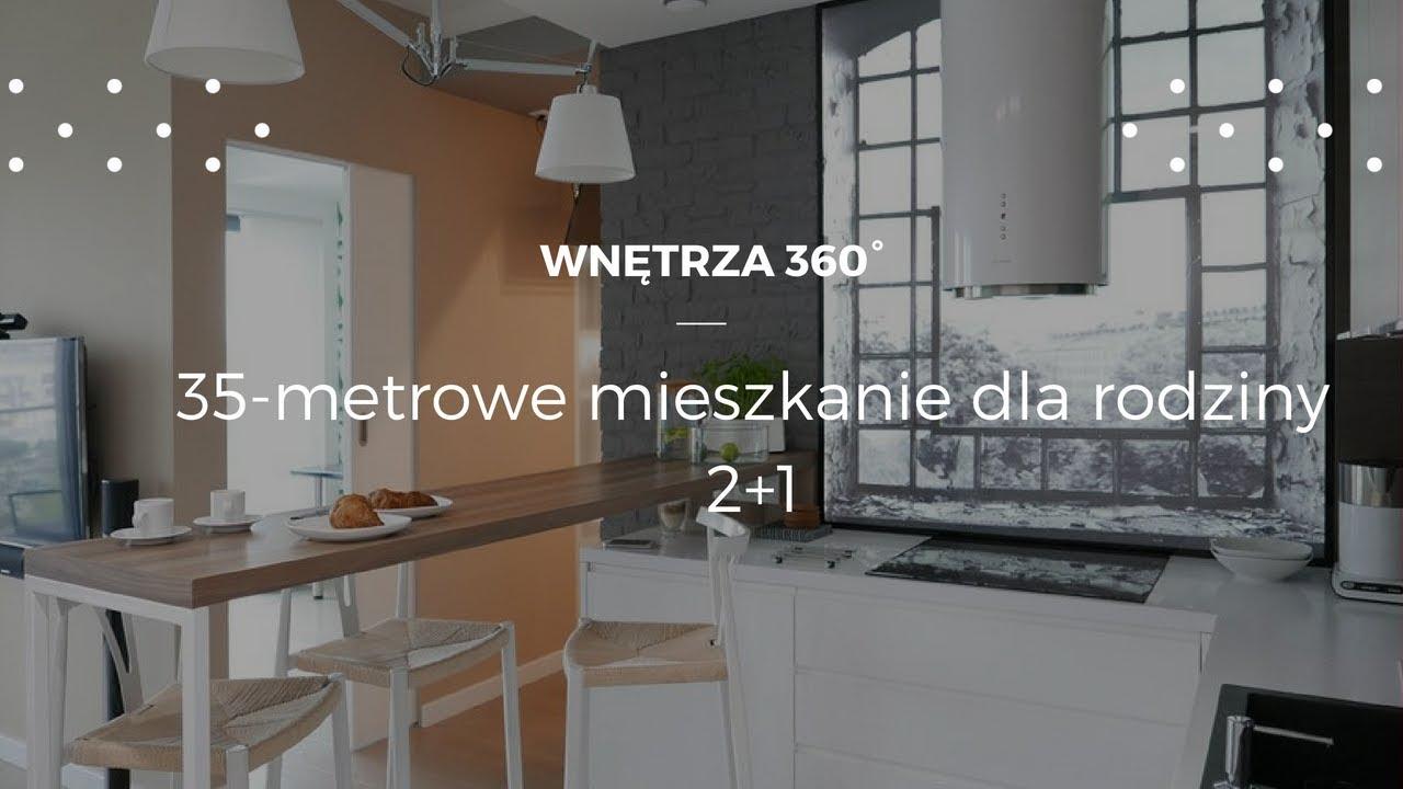 35-metrowe mieszkanie dla rodziny 2+1 #projektwnętrz