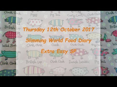 Day 12 #Vlogtober #Onplanoctober Slimming World SP Food Diary Thursday 12th October 2017