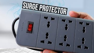 Belkin 8 socket surge protector   Unboxing and review