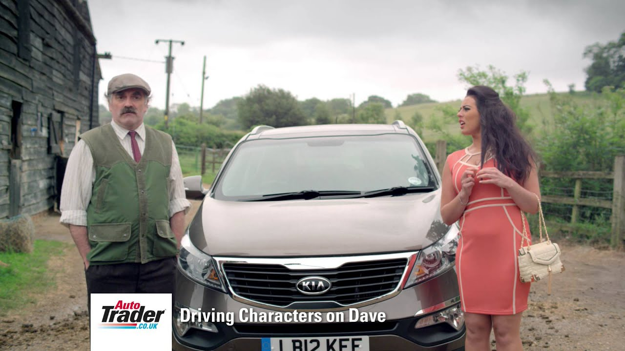 Auto Trader Driving Characters on Dave- The Farmer meets a WAG - YouTube