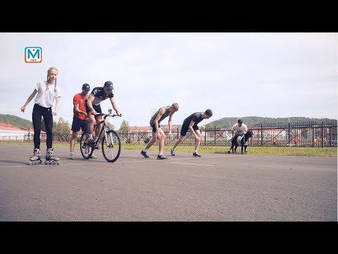 Тест на скорость для велосипедиста, легкоатлета и собаки!