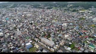 【4K】 岐阜県土岐市の土岐川河川敷より高度149mからの眺め(撮影2017/09/13)