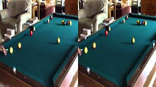 billiards in 3d demo of dxg 5f9v hd 3d camcorder 1080p