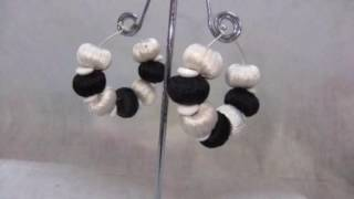 How to make silk thread earrings with beads