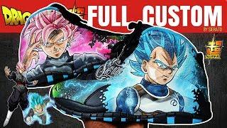 Full Custom | Jack Kelly's Dragon Ball Super Jordan 10s  by Sierato