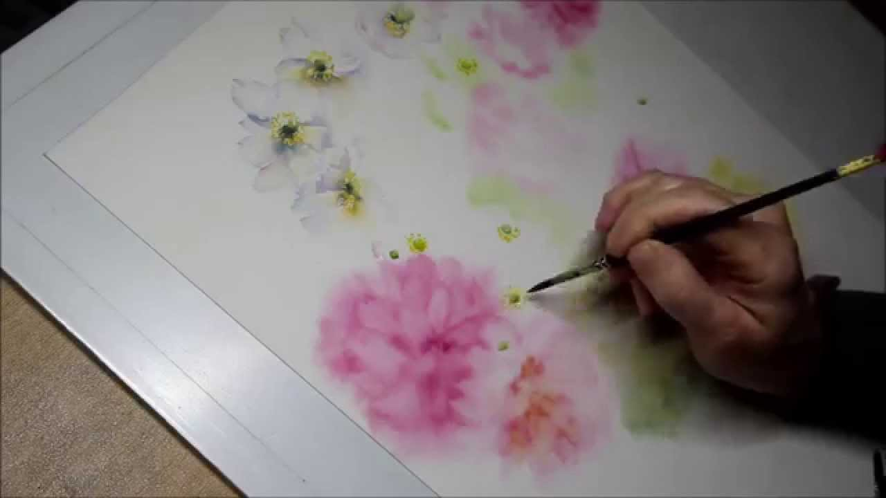 sommerblumen aquarell demonstration teil 3 youtube. Black Bedroom Furniture Sets. Home Design Ideas