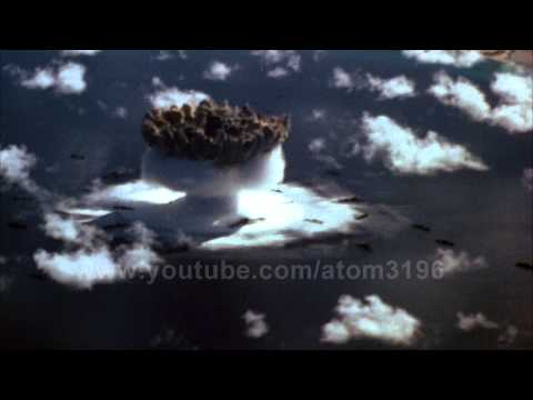 HD Amaing underwater atomic explosion 1946 operation crossroads nuclear testing 核実験
