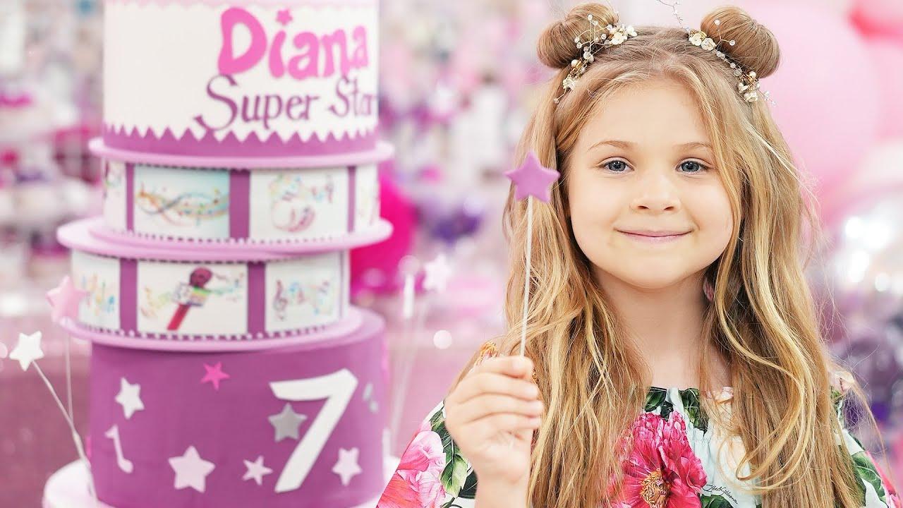 A Festa de 7 Anos da Diana! Feliz Aniversário Diana!