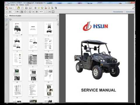 Hisun HS500UTV, HS700UTV, HS800UTV - Workshop, Service, Repair Manual -  Parts - Owners