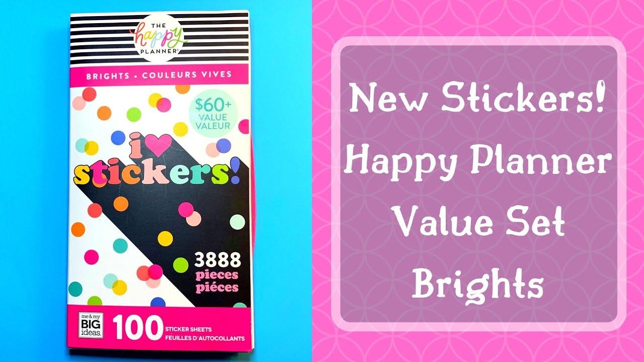 New Happy Planner Value Sticker Pack | Brights | Flip