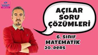 Açılar Soru Çözümleri | 6. Sınıf Matematik Konu Anlatımları