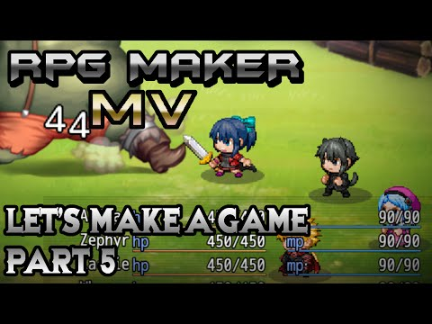 RPG Maker MV: Suddenly BOSS TIME! (Let's Make a Game! Pt-5)