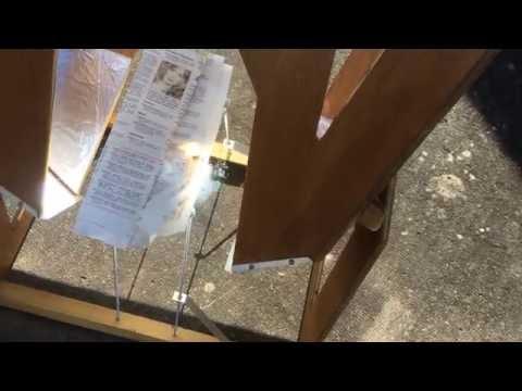 Twin Fresnel Solar Cooker
