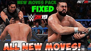 AGT - WWE 2K19 | NEW MOVES PACK DLC (WITHOUT GLITCHES/БЕЗ ГЛИТЧЕЙ) - ALL New Moves & Taunts!