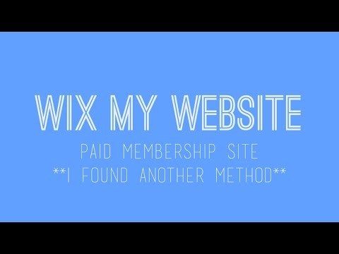 How to build a paid membership website in Wix - Wix Website Tutorial - Wix For Beginners Update