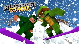 Minecraft School - THE ICE QUEEN KIDNAPS TINY TURTLE'S AUNTY!