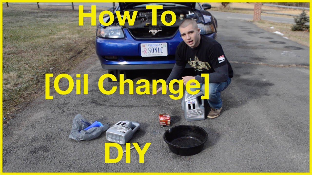 how to change your car oil diy ford mustang gt youtube. Black Bedroom Furniture Sets. Home Design Ideas
