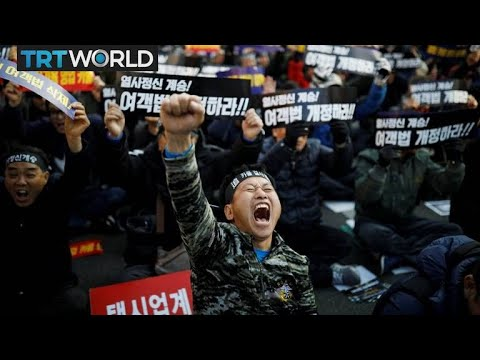 South Korea Protests: Taxi drivers protest ride sharing service