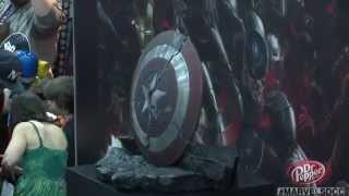 Get a Detailed Look at Captain America's Broken Shield From Comic-Con 2014