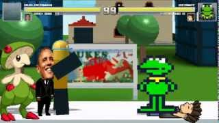 Mugen: Builderman & Barack Obama vs Kermit & Pedro Habbo