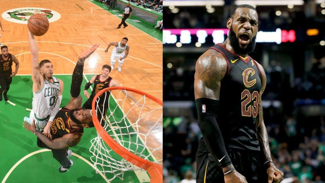 Tatum Dunks on LeBron! Cavs Advance to Finals! 2018 NBA Playoffs - YouTube