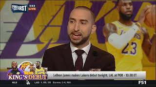 LeBron James makes Lakers debut tonight-First Things First 10/18/18