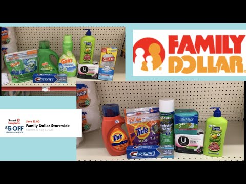 Family Dollar $5/$25 For Saturday August 8th Only