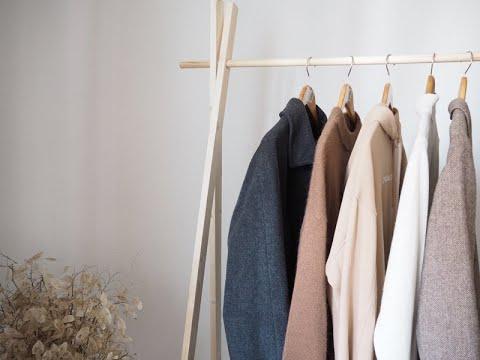 Напольные вешалки деревянные для одежды своими руками