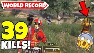 PLAYING WITH THE WORLD RECORD HOLDER | 39 KILLS VS SQUADS | CALL OF DUTY MOBILE BATTLE ROYALE