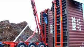 Belading Zeecontainers met kraan