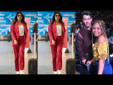 Priyanka Chopra Looking gorgeous spotted at airport for going New York and Nick Jonas latest Pics