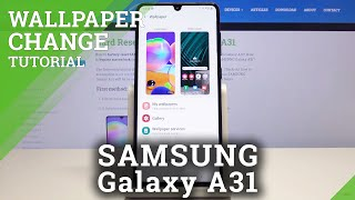 How To Change Wallpaper In Samsung Galaxy A31 Youtube