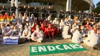 GERMANY | Climate protesters demonstrate outside Frankfurt car show