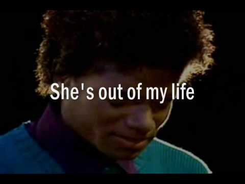 Michael Jackson She's Out Of My Life Lyrics