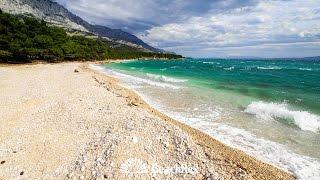 beach Baško Polje, Baška Voda, Croatia