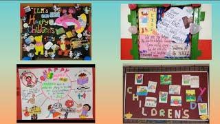 Children's day school display board ideas | notice board on children's day |
