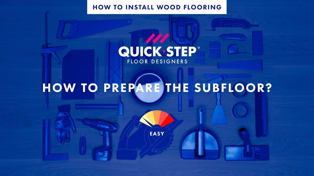 How to prepare the subfloor for wood flooring | Tutorial by Quick-Step