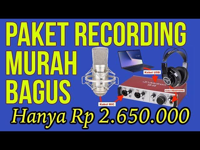 Paket Recording Alctron MURAH BAGUS Hanya Rp2.650.000 (Soundcard 2 In/Out+Mic Condensor+Headphones)